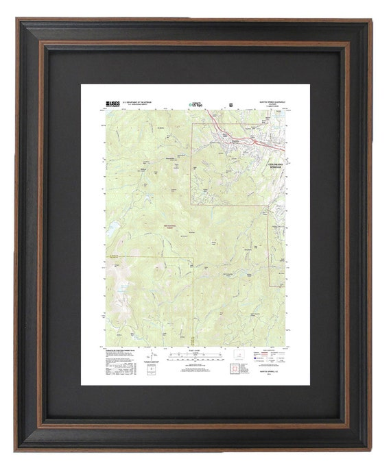 Framed Topographic Maps Manitou Springs Colorado Gift For Etsy
