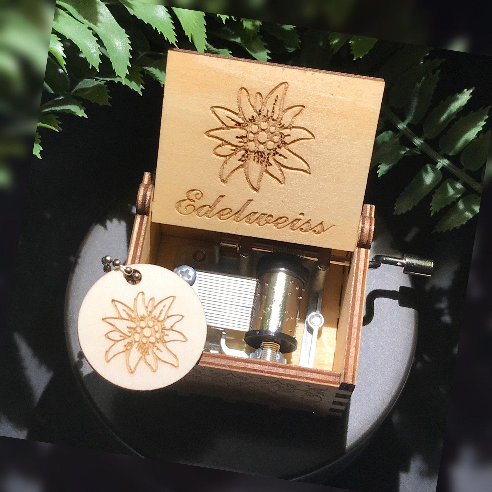 Edelweiss Wooden Music Box