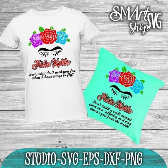 Ufficiale T-Shirt Ragazze Silhouette Frida Kahlo