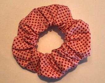 Soybean Scrunchies \u201cfair isle red\u201d flannel scrunchie