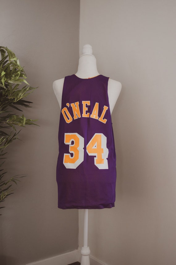 Shaquille O'Neal Lakers basketball jersey double s