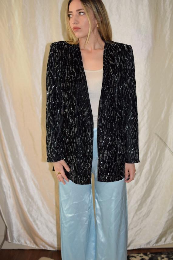 Vintage 80s sequins sparkly blazer