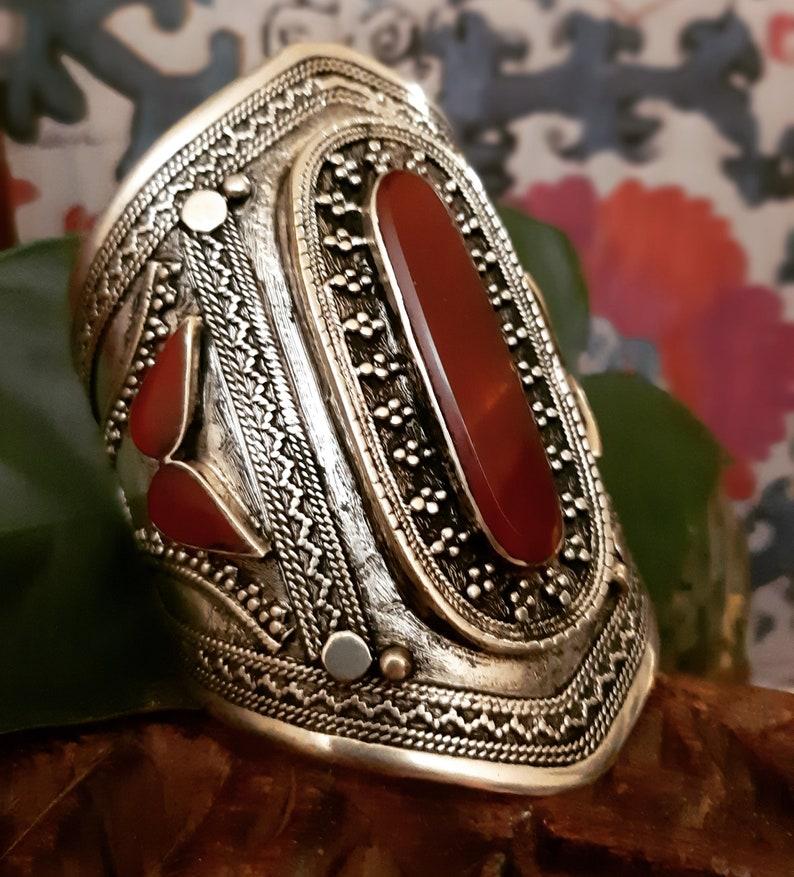 Boho Gypsy Jewellery Hippy Accessory Wide Cuff Bohemian Tribal Cuff Afghan Kuchi Jewellery Vintage Cuff