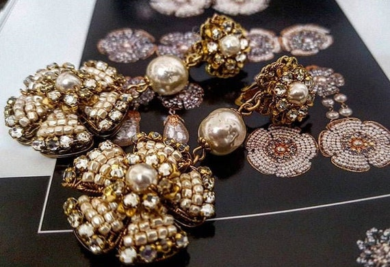 Miriam Haskell Classic Baroque Pearls Earrings