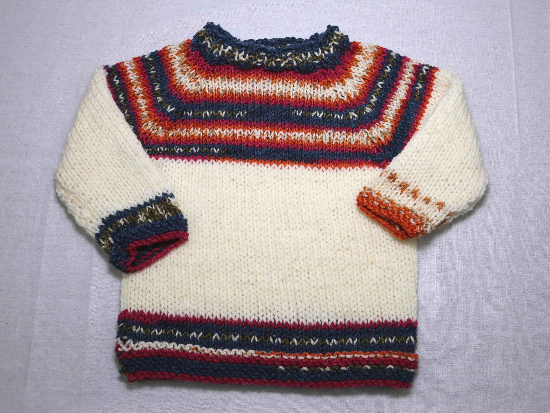 89a82719d9d02b Raglan-sweater Norwegian style ca Gr. 98 104 hand knitted
