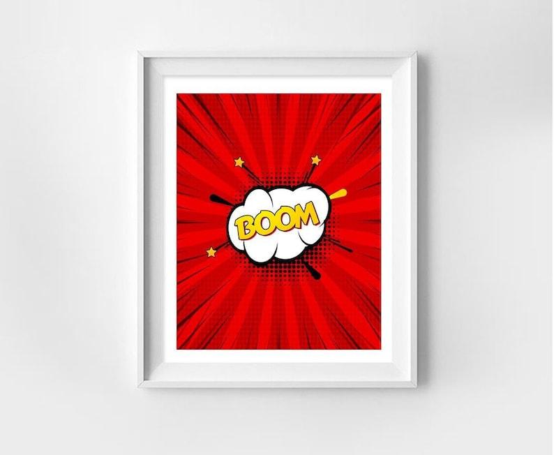Superhero Signs, Pop Art BOOM!, Superhero Sound Effects, Funny Art, Digital  Download Print, Printable Art, Instant Download