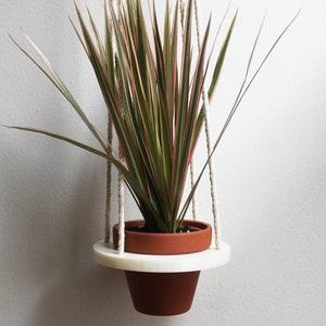 Indoor Planter  Medium Size Pot 4  3D Printed Bioplastic  White  Plant Holder  Cactus  Succulent  4 Clay Pot
