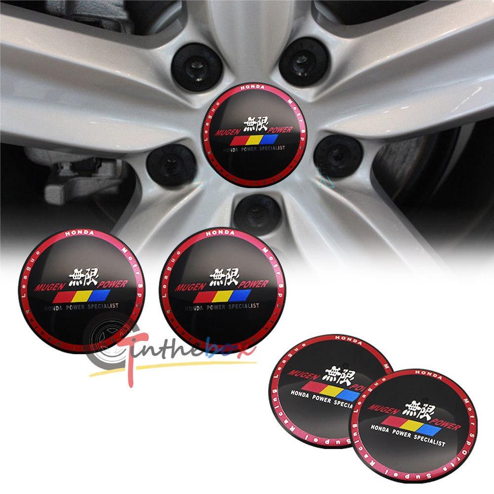4x Mugen 65mm Wheel Center Cap Sticker Decal Emblem Fit