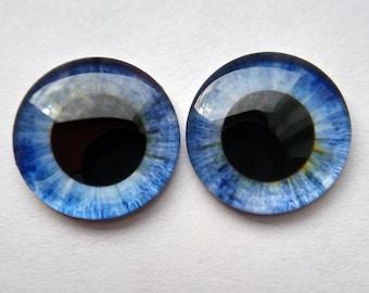 Transparent small pupil acrylic blank Blythe eye chips for Custom Use 1 Pair