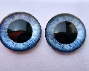 1 Pair Transparent small pupil acrylic blank Blythe eye chips for Custom Use