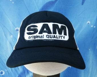9e13a9d5de5538 Vintage Sam Trucker Hat Cap