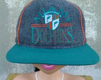 fbb024e65368f Vintage Miami Dolphins NFL Football Hat Cap