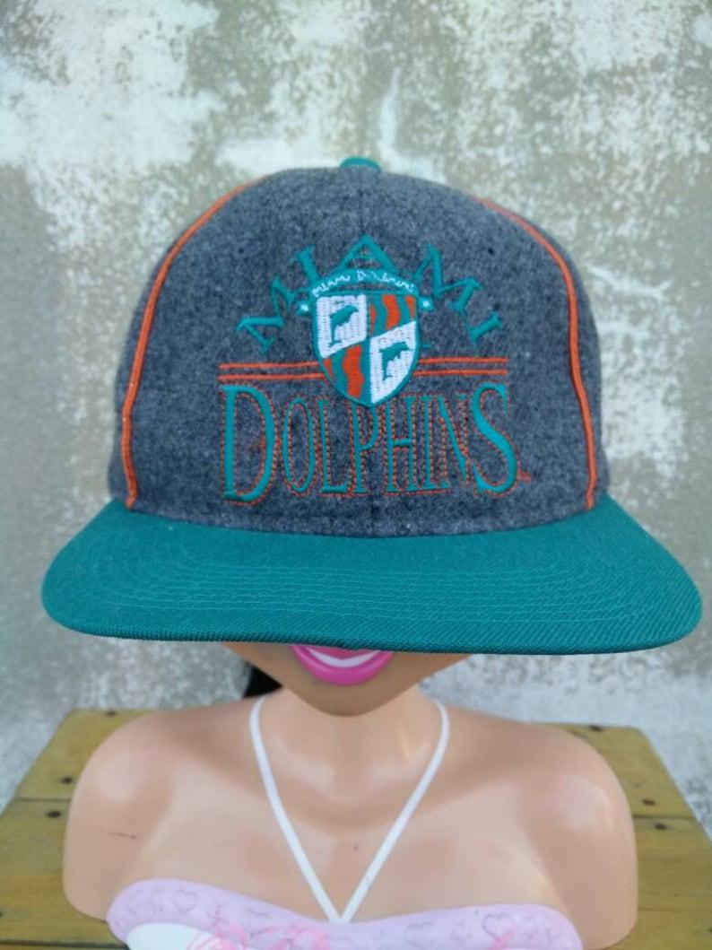 42d5537d Vintage Miami Dolphins NFL Football Hat Cap, Snapback Hat, Baseball Cap,  Sports