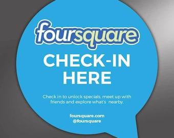 0f1d28c7 Foursquare CHECK IN HERE sticker