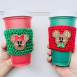 Gingerbread Mouse glitter coffee cozy