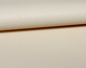 20cm x 33cm Cream Beige Faux Leather Fabric for Hair Bows and Crafts