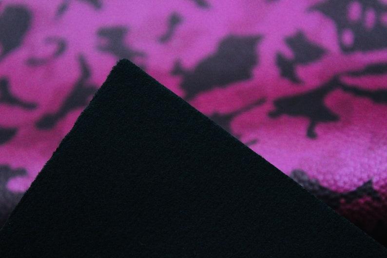 Metallic Pink Camo Design Fabric Pink /& Black Colored Camo Leather Faux Leather Fabric METALLIC PINK CAMO Camo Faux Leather Sheets