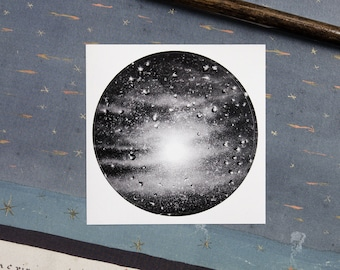 Paper sticker of a sunlit rainy window | Thousand Suns | sun in the cloudy sky | poetic & mindful astrophotography | Nocturnal Mood Of Time
