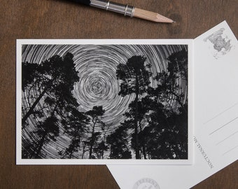 Postcard | Circles Of Life | starry greeting card set | birthday and grief | photo card | mindful astrophotography | Nocturnal Mood Of Time