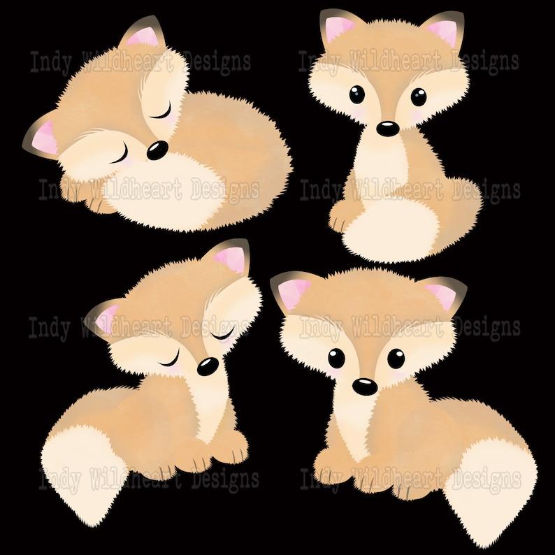 Paper Craft Scrapbook Album Autumn 53 PNG files Fox Bears Rabbits Hedgehog Cute Woodland Animal Fall Clipart Instant Download