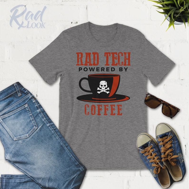 2a61a8d86 ... rad tech powered by coffee mens radiology shirt radiology etsy ...