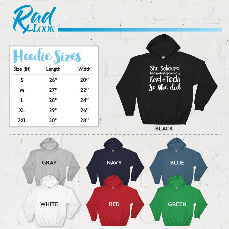 Radiology Tech Shirt Radiography Tank Top Hoodie She Believed She Would Become A Rad Tech Radiology Gift Rad Tech TShirt
