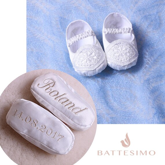 Personalized Baby Boy Booties Baptism
