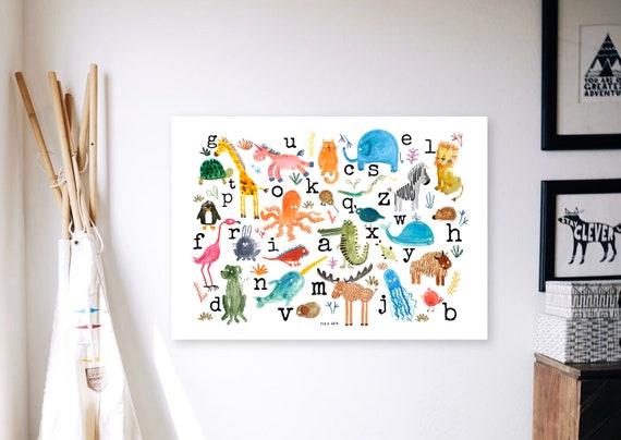ABC Animal Alphabet Large Print - A3 Animal ABC Print