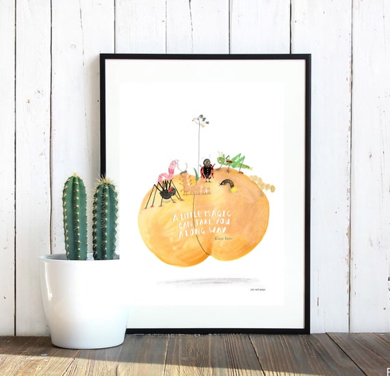 James and the Giant Peach Quote Print - Roald Dahl Print