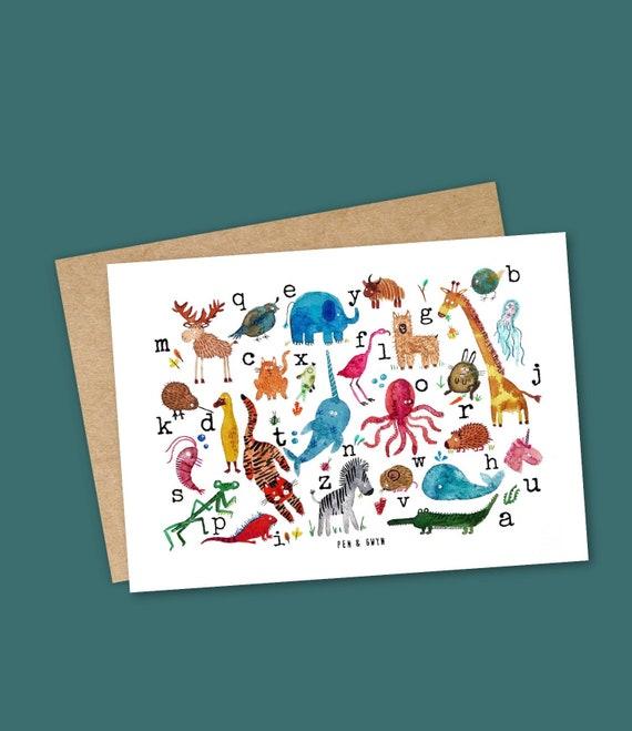 Animal ABC - A6 Print/ Postcard