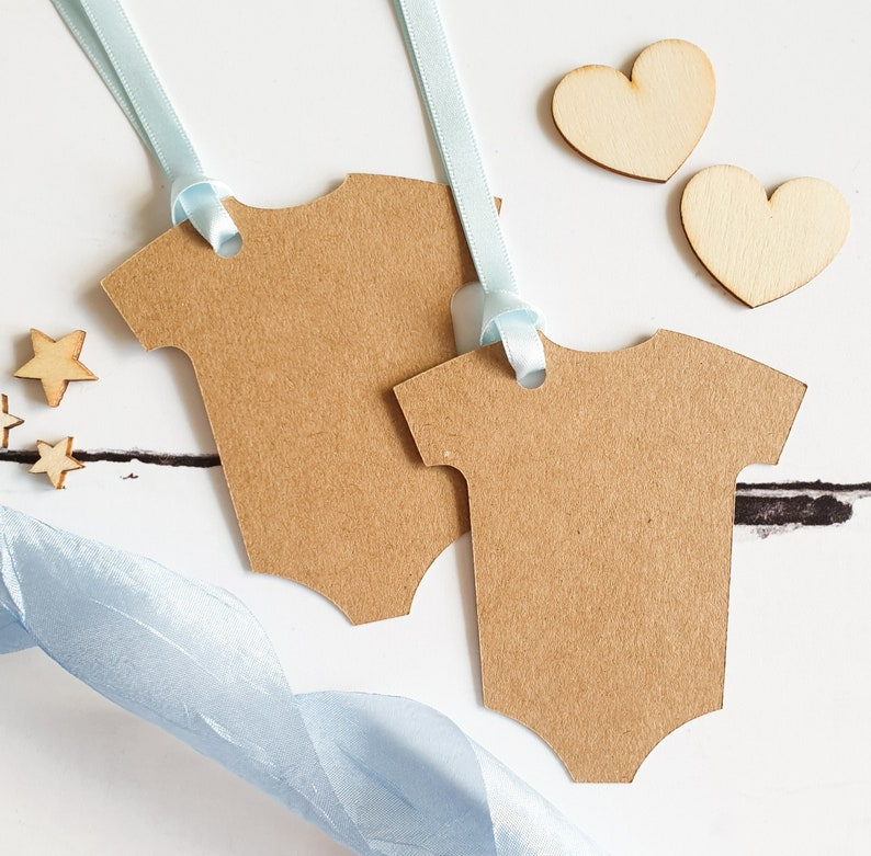 x8 Tags Baby Shower Tags Set of Kraft Brown New Baby Tags for Craft New Baby Blank Gift Tags Set Gift Wrap or DIY Decor Christening.