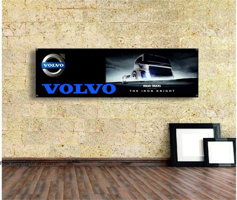 workshop Garage Decor Volvo  Logo Banner Vinyl,Garage Sign,office or showroom,Flag,Racing Poster,Auto Car Shop,Car Poster Gift