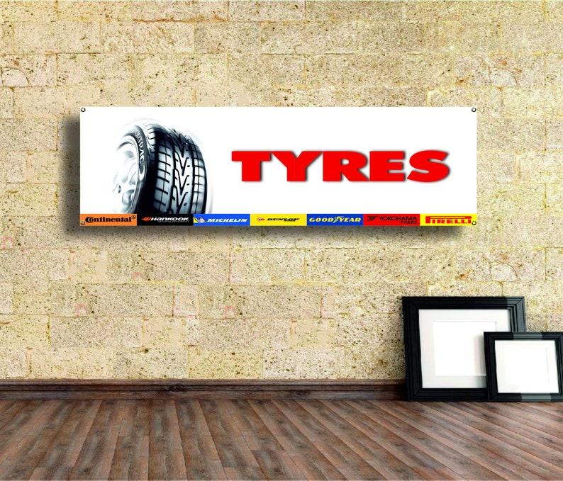 tires  Logo Banner Vinyl,Garage Sign,tire service workshop Gift Garage Decor office or showroom,Flag,Auto Car Shop,Car Poster