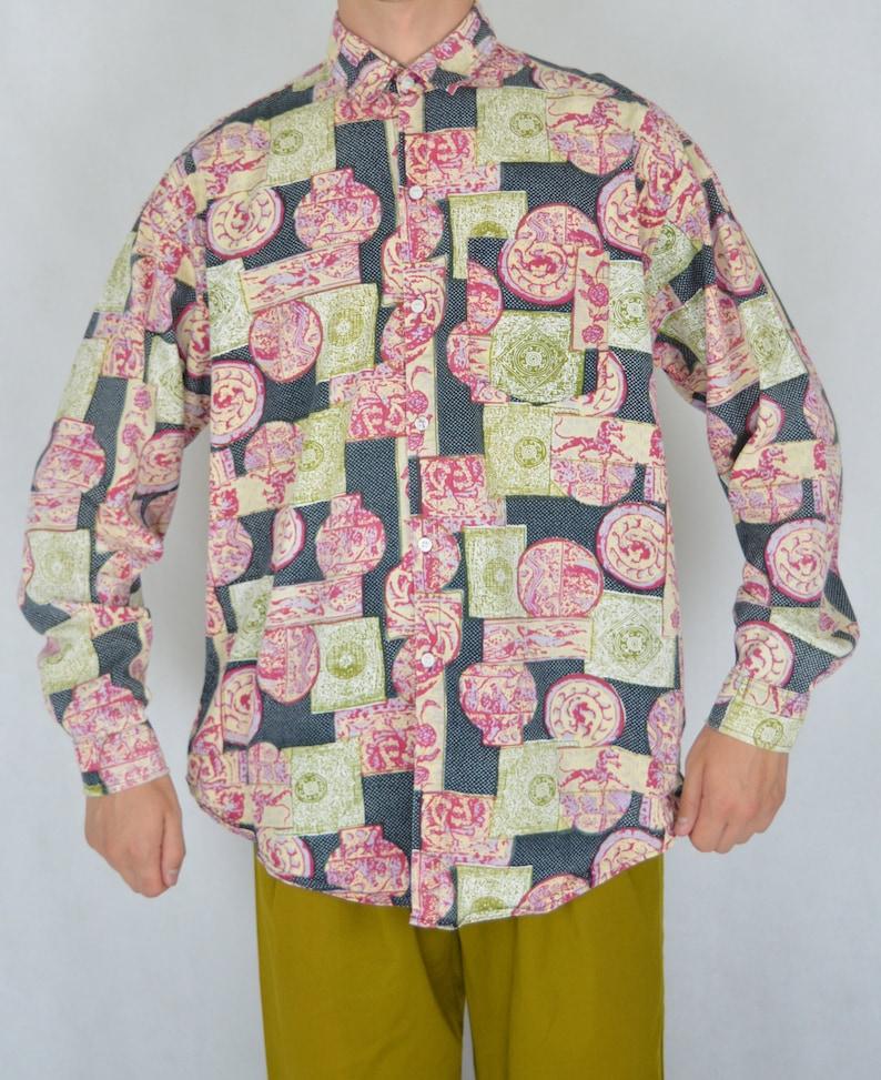 Vintage classic festival graphic multicolour classic shirt