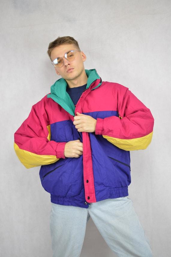 Vintage multicolor classic puffer jacket