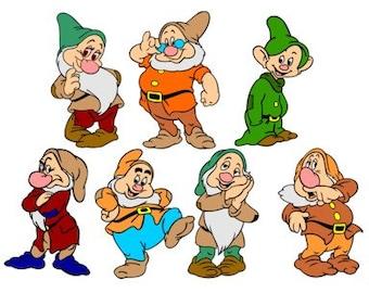 7 dwarfs | Etsy