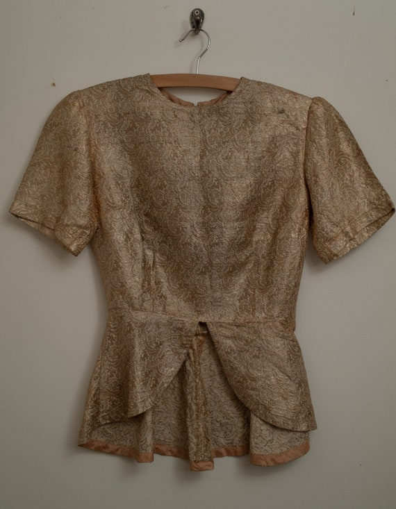 1930s Gold Brocade Fitted Top