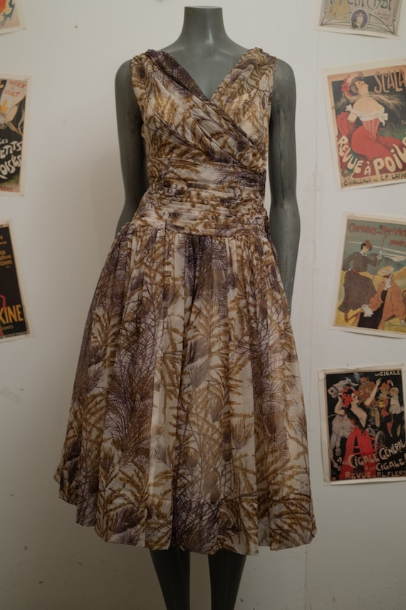 1950s Mandell Couture London Prom Dress
