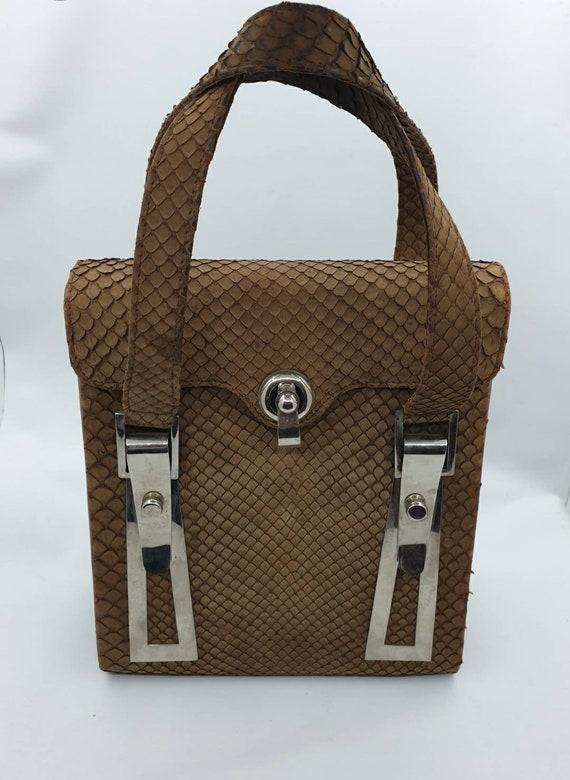 1960s vintage snakeskin bag.