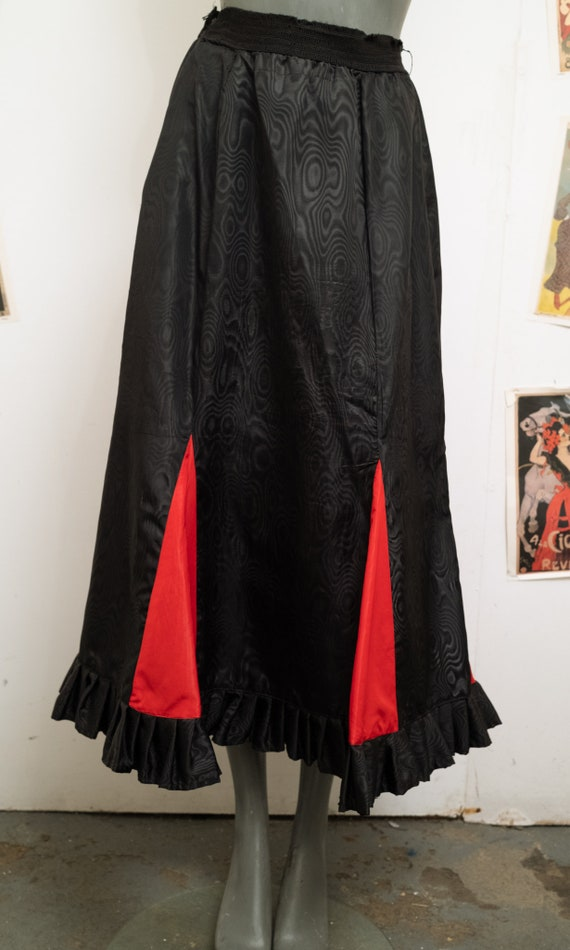Black and Red Moire Skirt