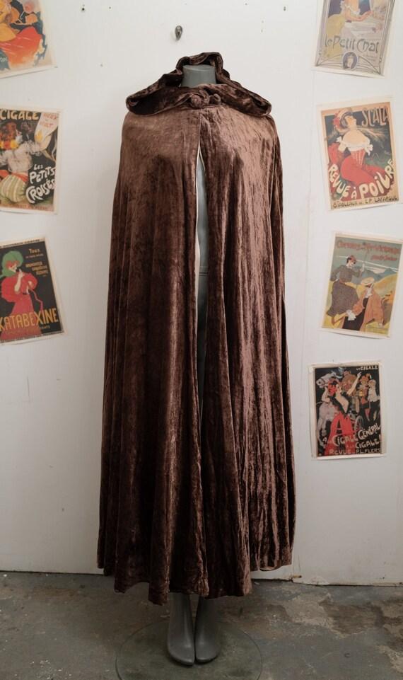 1920s Velvet Silk Cloak