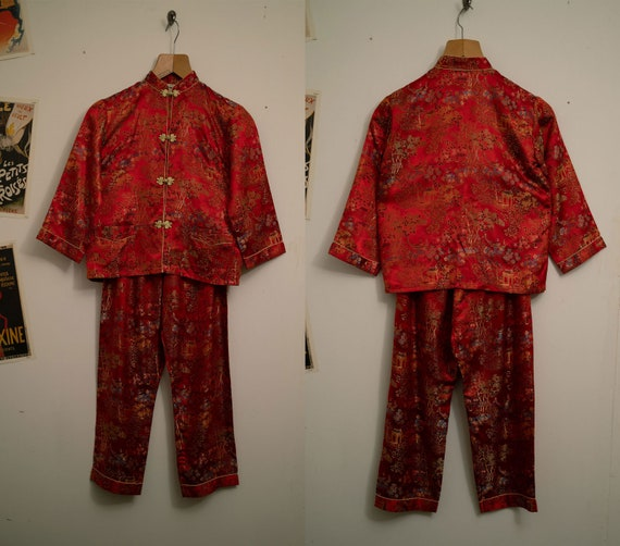 Red Asian Suit XS