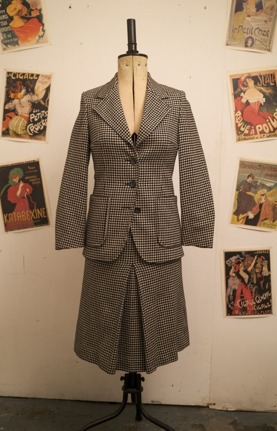 Harrods 1950s Houndstooth Wool Suit