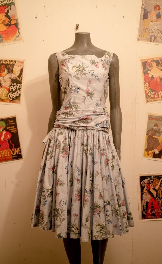 1950s Horrockses Floral Dress