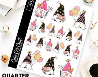 Gnome Planner Stickers || Birthday Gnomes 2