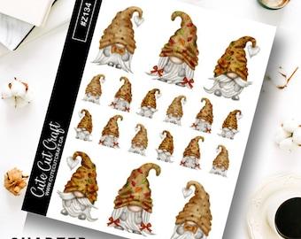 Gnome Planner Stickers || Autumn Gnomes
