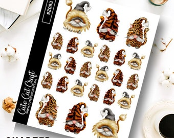Gnome Planner Sticker || Tiger Gnomes