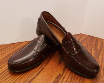 28370dea1f2 Bass Weejuns Burgundy Leather Penny Loafers Brand New in Box Size 12 N