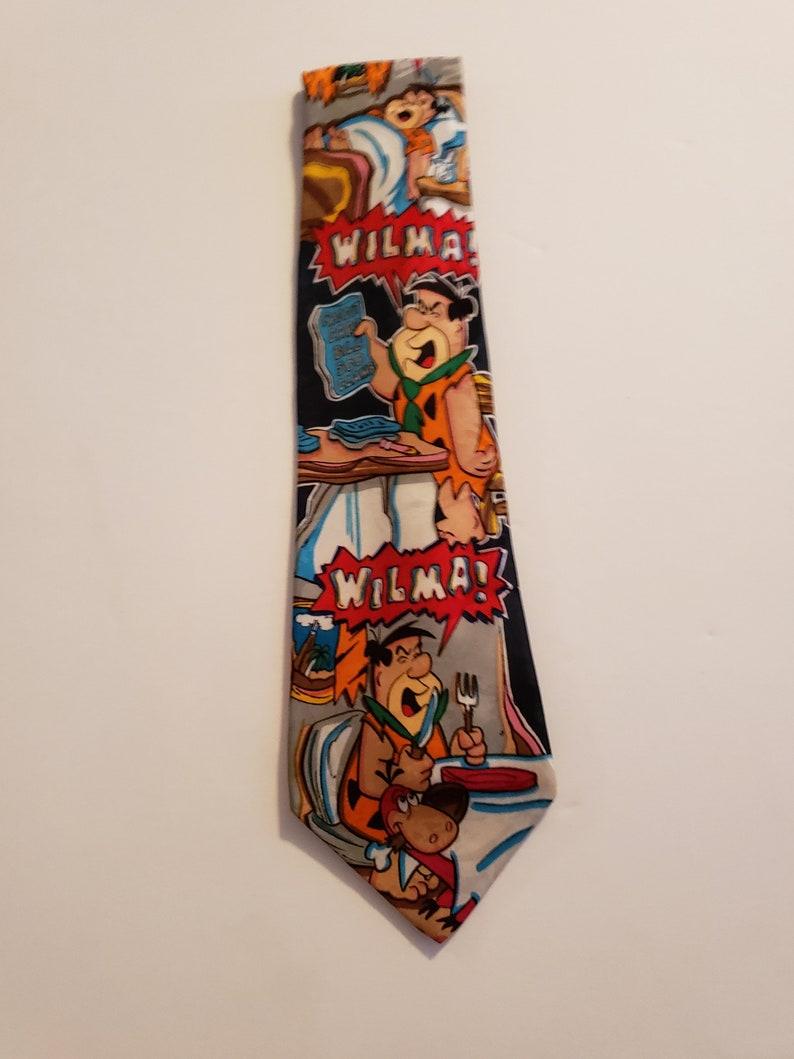 Vintage Hanna-Barbara Wilma Necktie  Fred Flintstones