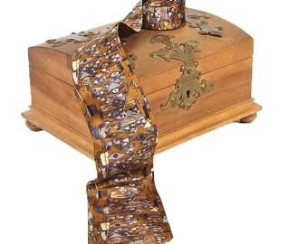 """Silk tie artist motif Gustav Klimt """"Adele neckline"""" 100% pure silk hand printed"""